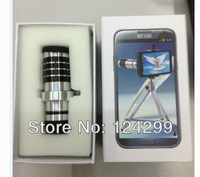 Hot Fashion lens 12X Magnifier Zoom Aluminum Camera Telephoto Lens Tripod for Samsung Note2 N7100