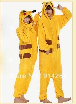 Unisex Pokemon Pikachu Pajamas Cosplay Japan Anime Costume Halloween 001   /free shipping