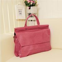 women's handbag messenger bag clamshell PU document bag messenger bag women's handbagBright surface ol bag