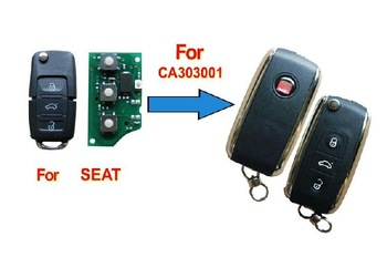 Car Key Shell 3 Buttons Modified Flip Remote Key Shell for Seat With High Quality