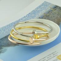 min order $20 (mix order) Wholesale 18k rose gold luxury bracelet high quality screws bracelet fashion nail bracelet female