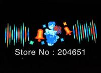 90x25 Genuine High Quality Equalizer Sound Active flashing EL car Sticker Rose beauty style Car Music Rhythm Lamp CE RoHS