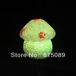 free shipping gift box crystal 7 color mushroom LED lighting vegetable night light stage ornament night lamp(China (Mainland))