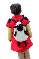 Hot sale Super cute Sheep plush backpack baby schoolbag Travelbag Shaun the sheep free shipping