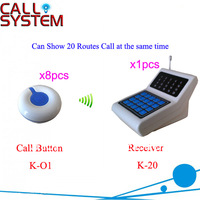 Hot Sale Hospital Wireless Nurse Call System K-20+O1 receiver can show 20 routes of call at the same time Shipping Free