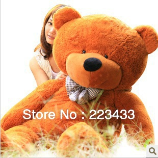 "M'lele retail PP cotton giant size plush stuff dolls 230cm-90"" bear pocoyo plush toys white grown color(China (Mainland))"