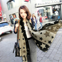 2013 women's chiffon scarf star silk scarf long paragraph star