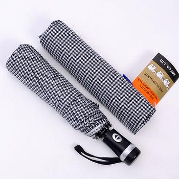 Free shipping 3 folding Swallow plaid style automatic umbrella, 1pc