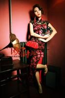 Wedding cheongsam 2013 chinese style fashion design vintage full lace long cheongsam female summer cheongsam