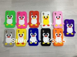 Wholesale 3D Penguin Pattern Soft Silicon Case for Samsung Galaxy Ace S5830(China (Mainland))