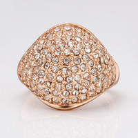 18K Gold Plated Ring R050 Jewelry Nickel Free Golden Plating Rhinestone Austrian Crystal Ring Promotion Price for Gift