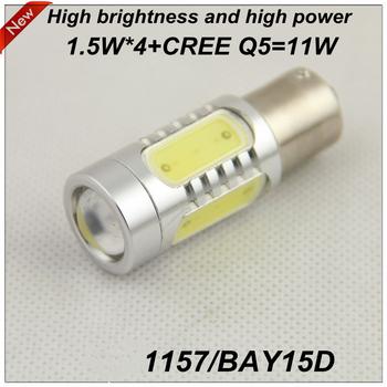 Kia Brake lights P21/5W BAY15D 1157 DC 12V  11W High Power+Cree chip 18 Months Warranty  Free Shipping