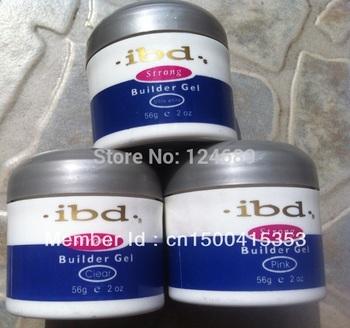 Free shipping 3pcs/lot Acrylic Nail Art UV Gel nail saloon profesional nail art IBD Builder Gel 2oz / 56g 3 color can be choose
