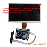 9-inch digital LCD screen Car PC Monitor DIY kit HD LED backlight reverse priority 16:9