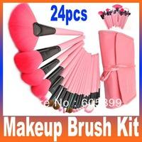 Professional 24pcs Makeup Brush Set Kit Makeup Brushes & tools Make up Brushes Set Brand Make Up Brush Set Case Free Shipping