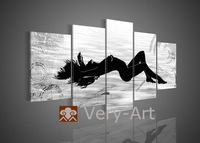 hand-painted canvas wall art ornament hot women nake sexy girl oil painting nude girl photo body painting