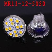 Free shipping MR11 GU4.0 2.5W LED Pure White 12 SMD LED Energy Saving High Power Spot Light Bulb Lamp DC12V warm white