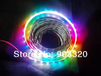 Non- waterproof 5M/Roll WS2811 LED Digital Strip,60leds/M With IC 5V  WS2811 Built-in SMD5050 RGB LED Chip With DMX Controller