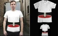 2013 3D novelty effect bone Spinal T-Shirt /three-dimensional bones /boys short-sleeve T-shirt lovers basic shirt