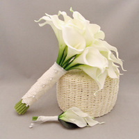 PU artificial flower wedding flower bride holding flowers calla lily 30 bountyless
