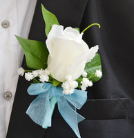 Flower corsages wedding groom corsage white rose