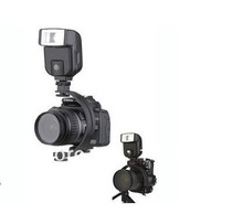 Photo Studio Accessories new C-shaped 2 hot shoe dual metal flash bracket for camera flash speedlite LED