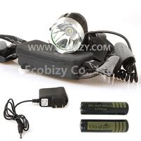 1600Lm CREE XML T6 LED Headlamp Headlight + 2X 4000mAh Battery, Waterproof 3 Mode for Outdoor Sports,
