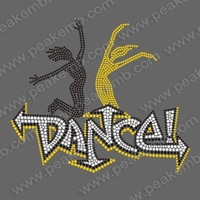 Free Shipping Fast Turnround 30pcs/Lot Wholesale Rhinestone Dance Transfer Motif Designs for Ts Hoodies