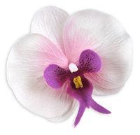 10 Big Phalaenopsis Heads Artificial Flower - Silk Flowers 3.75 inches White purple