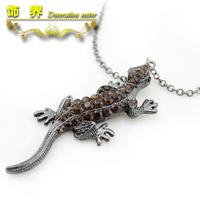 2014 seconds kill limited link chain trendy women zinc alloy gekkonidae full rhinestone necklace female jewelry  (min.order.$15)