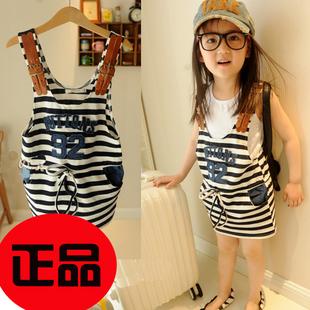 ملابس الاطفال صيف 2013 Petty-bourgeoisie-2013-children-s-clothing-female-child-suspenders-faux-denim-dress-summer-stripe-strap-child.jpg