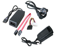 Fashion New USB 2.0 to IDE SATA 2.5 3.5 Hard Drive Converter Power Cable, Free & Drop Shipping
