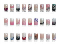 Glitter polish predesigned False Acrylic Art Nails  with Glue-on 144 boxes/lot