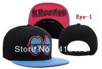 Free shipping wholesale Krooked Eyes Snapback Caps,high quality