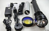 Free shipping by DHL Ultra Bright 85W 8500 Lumens 9300mah Rechargeable HID Flashlight Xenon Torch kit Black