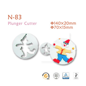Free Shipping Perfect Quality Food Grade Fondant Cake Decorating Tools/Clown shaped cutter mold-2 pcs package