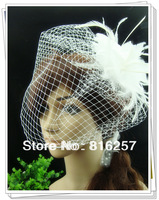 Free shipping  multiple color fascinatos/feather flowers,nice bridal hair accessories/ veils/wedding headwear FS76