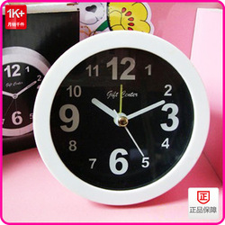 Daily use small commodities baihuo 1417 circle small alarm clock simple alarm clock promotional alarm clock(China (Mainland))