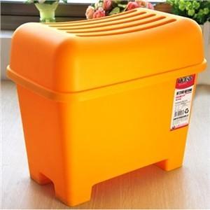 Home plastic waterproof storage stool change a shoe stool baihuo - Small orange
