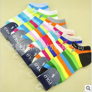10 double Paul good female polo quality goods in bulk ship socks cotton embroidery logo(China (Mainland))