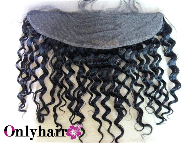 "2013 new arrival lace frontal piece afro kinky curl texture, cap size 13""x4"", no tangle no shed, top quality free shipping(China (Mainland))"