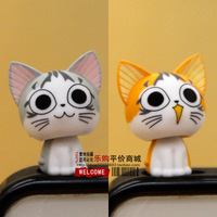 Cheese cat three-dimensional doll for iphone s 3.5 general dustproof plug plug49