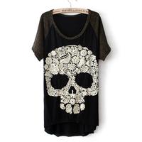 Pear loose medium-long short-sleeve T-shirt HARAJUKU personalized t-shirt female