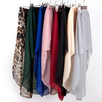 2013 summer solid color brief low-high irregular bust skirt female