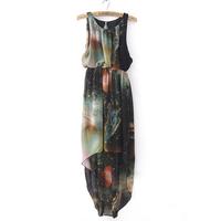 2013 high waist chiffon jumpsuit full dress personalized dream full dress fashion
