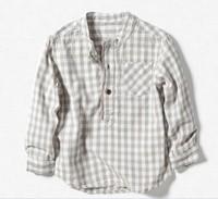 original  kids 2013 children's spring clothing stand collar shirt decoration plaid shirt male child fluid  clothes