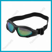 Lightweight Versatile Goggles With Reflective Colorful Lens And Black Frame Free Shipping