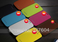 Hot sale! 8 Colors BATTERY BACK FLIP COVER DOOR LEATHER CASE FOR SAMSUNG I9300 GALAXY S3 III w/ Film,Free Shipping