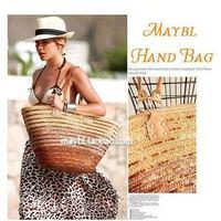 Fashion paillette stripe beach bag straw bag rattan bag