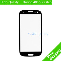 blue red pink Replacement LCD Front Screen Glass Lens for SamSung Galaxy S3 III i9300 Free Shipping EMS DHL UPS HKPAM CPAM